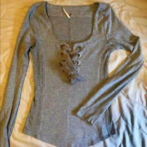 Free people long sleeve lace shirt